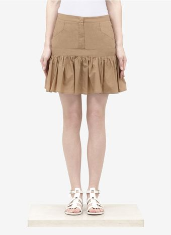 See By Chloé Pleated hem Cotton poplin Skirt - Lyst