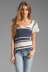 See By Chloé Short Sleeve Striped Tee  - Lyst