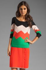 Sonia By Sonia Rykiel Chevron Sweater in Vitamulti - Lyst