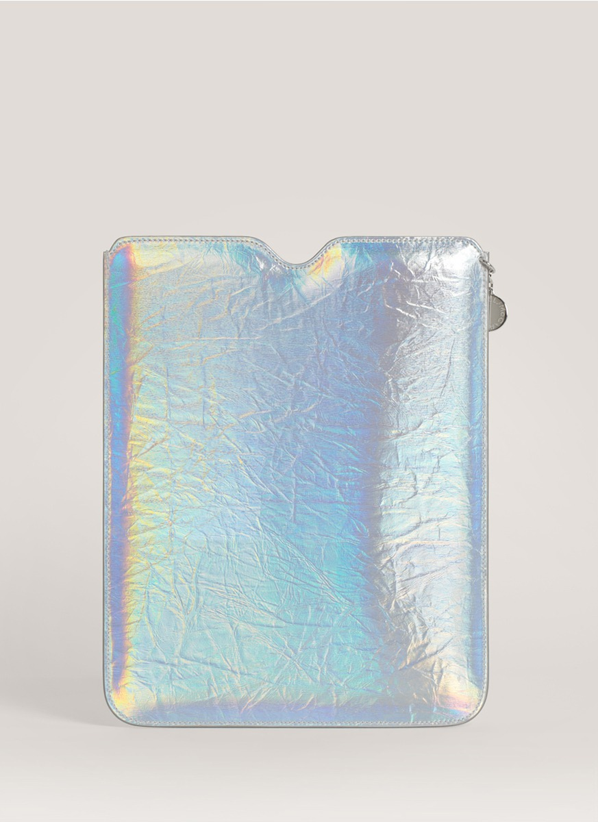stella mccartney falabella holographic ipad case in blue