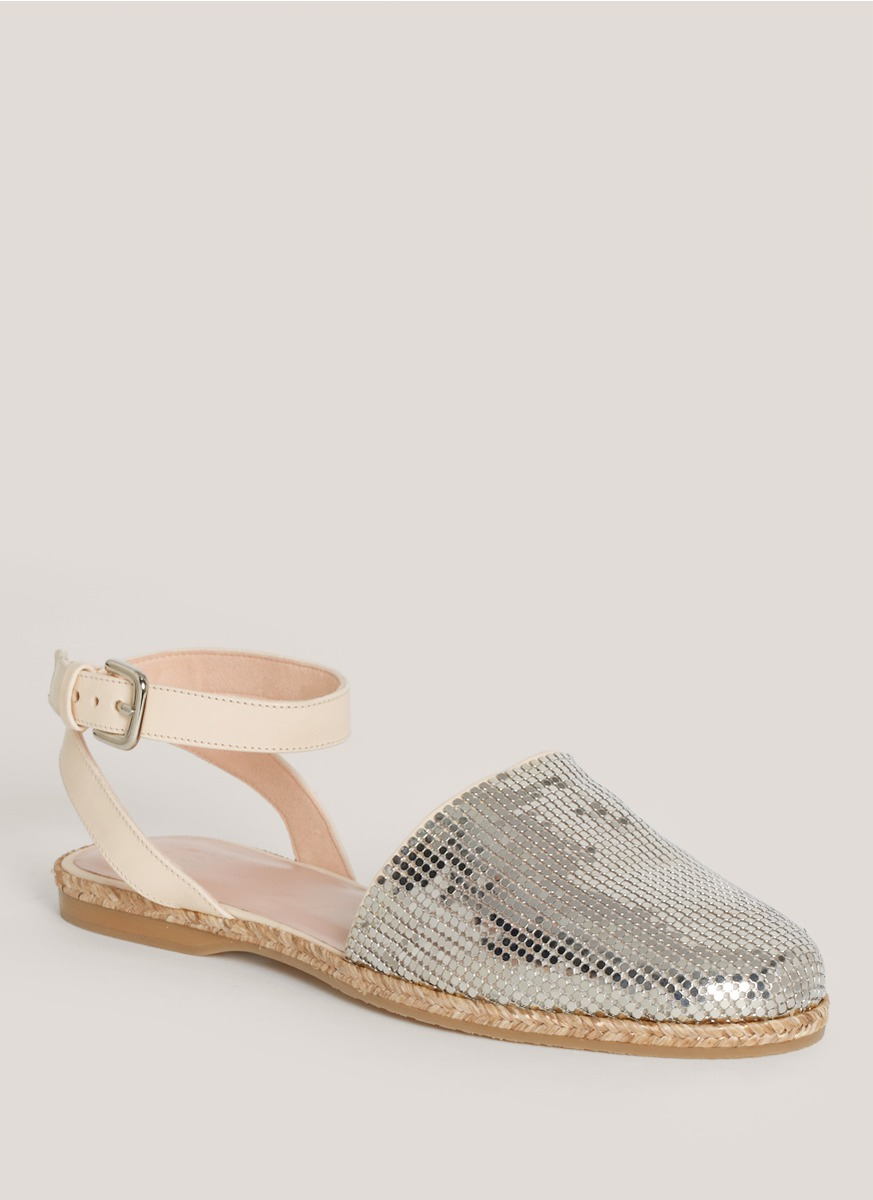 sale pick a best Stuart Weitzman Metallic Round-Toe Espadrilles shop for with paypal online outlet store sale online clearance in China NiQSKN