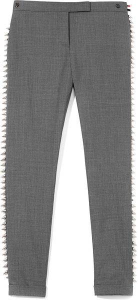 Thom Browne Studded Twill Trousers - Lyst