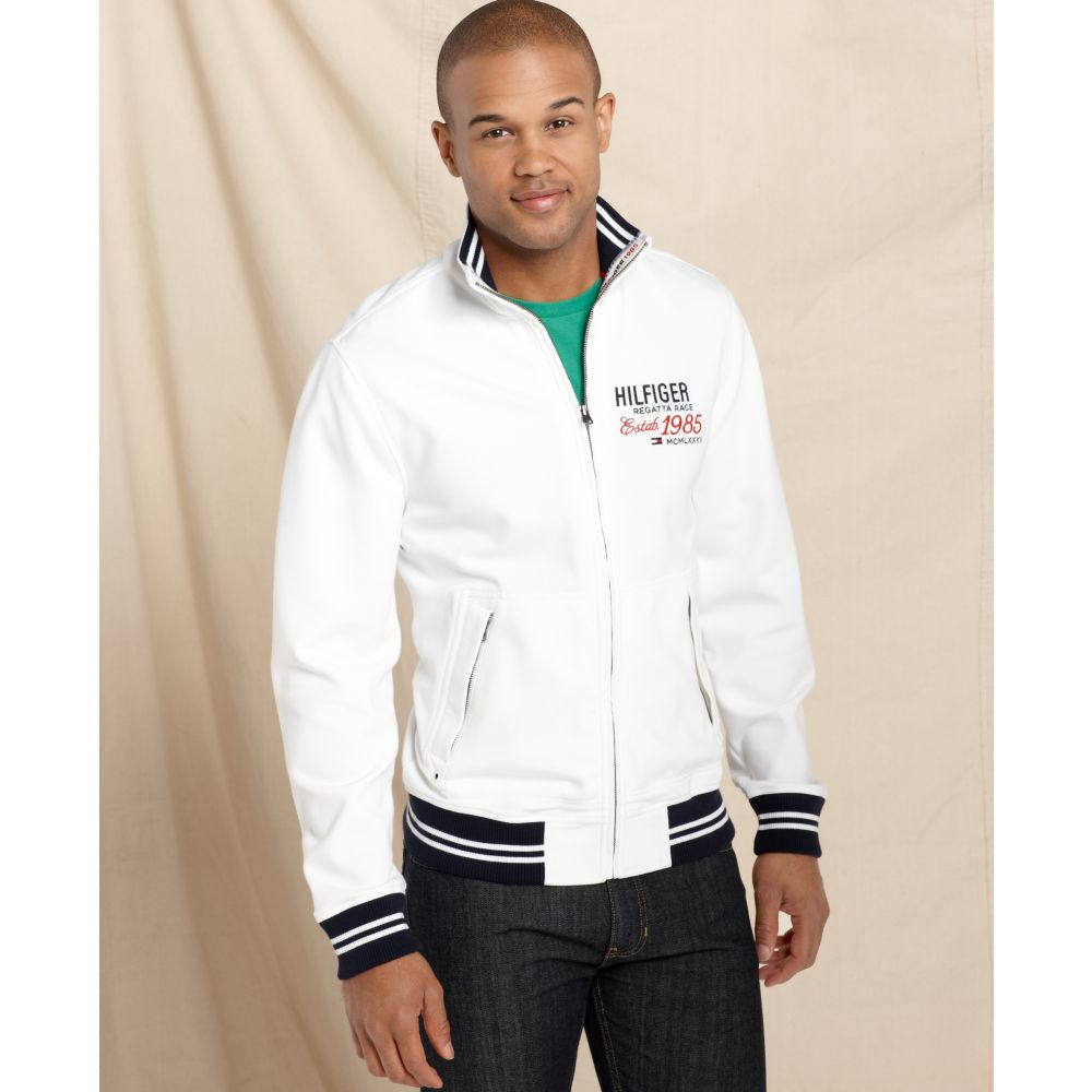 f6986d2d68324e Lyst - Tommy Hilfiger Topeka Full Zipper Sweater Jacket in White for Men