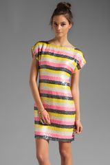 Trina Turk Georgette Breene Short Sleeve Dress in Pebble - Lyst