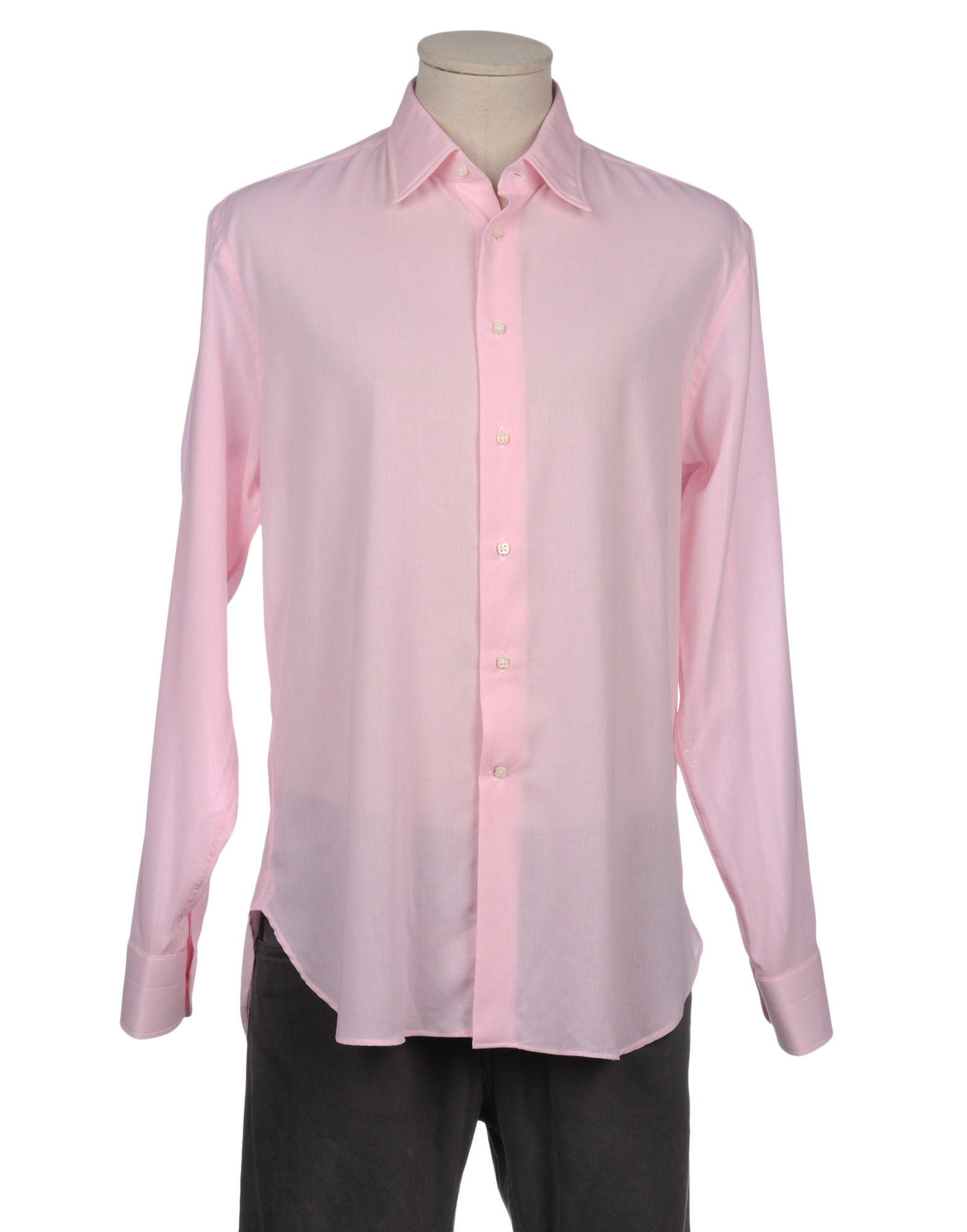 Bagutta long sleeve shirt in pink for men lyst for Mens pink long sleeve shirt