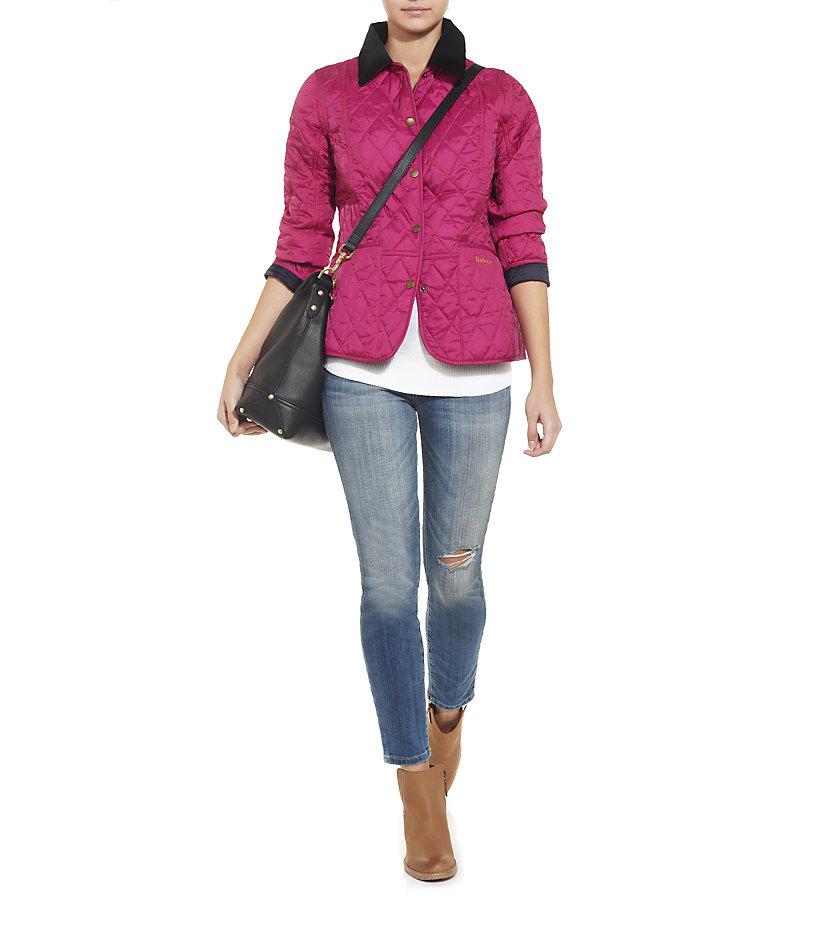 Barbour Summer Liddesdale Quilt Jacket in Pink | Lyst : barbour summer liddesdale quilted jacket - Adamdwight.com