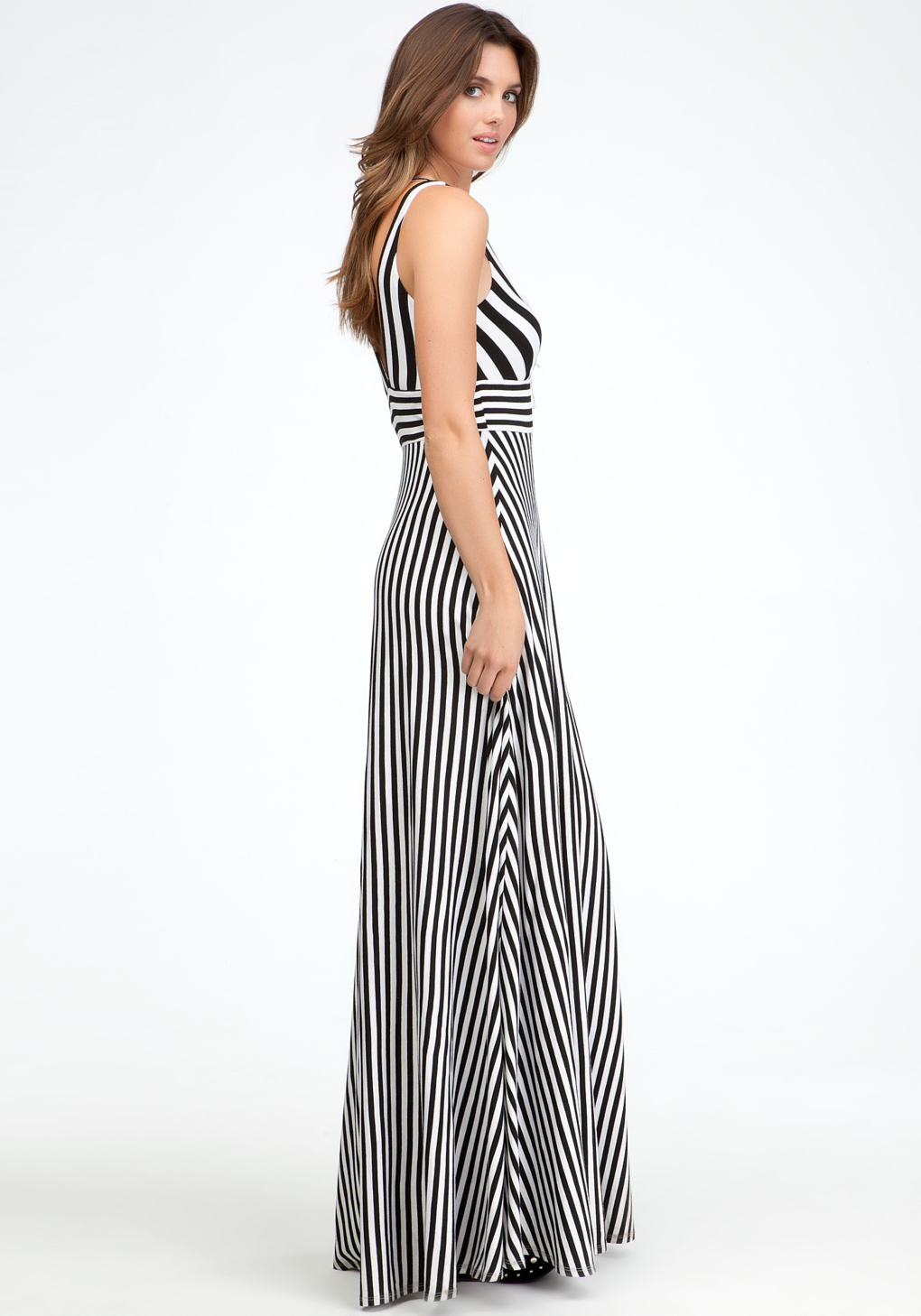 White and Black striped maxi dress bebe recommend dress in on every day in 2019