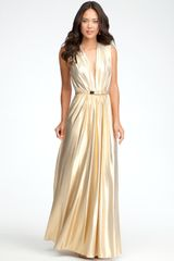 Bebe Deep Vneck Maxi Dress Online Exclusive