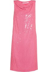 Diane Von Furstenberg Mariah Sequined Silk Chiffon Dress - Lyst