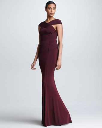 Donna Karan New York Crossneck Evening Gown - Lyst