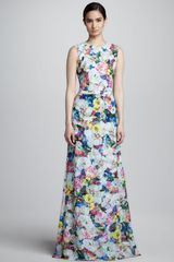 Erdem Long Floral Print Dress - Lyst