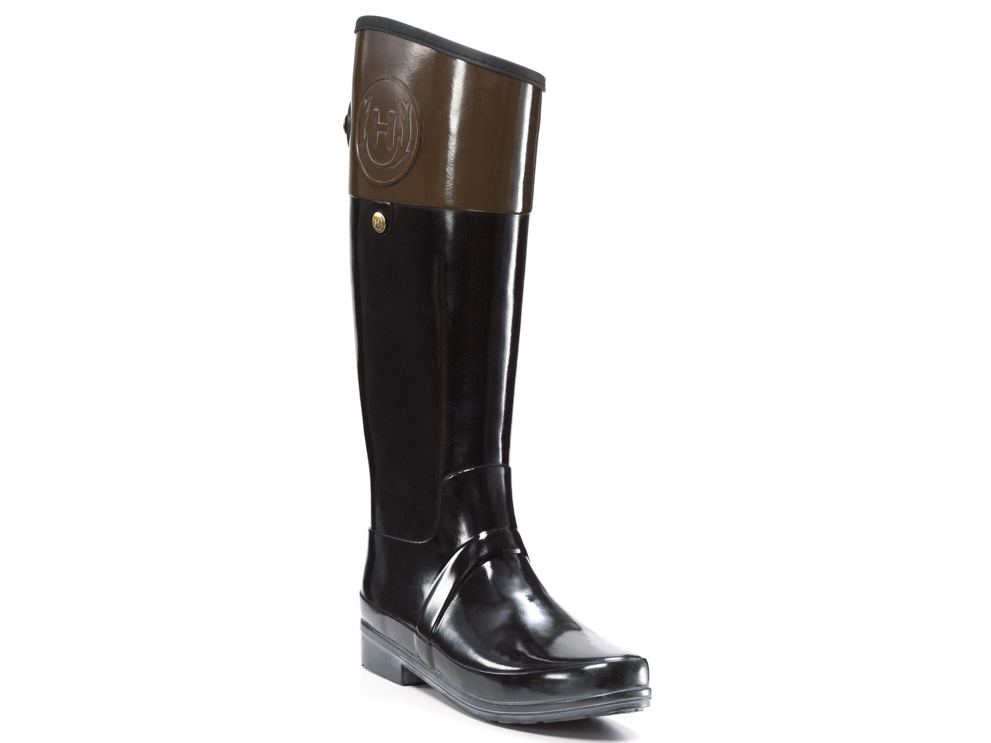 regent carlyle boots in black milk chocolate