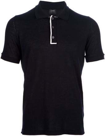 Jil Sander Trim Detail Polo Shirt - Lyst