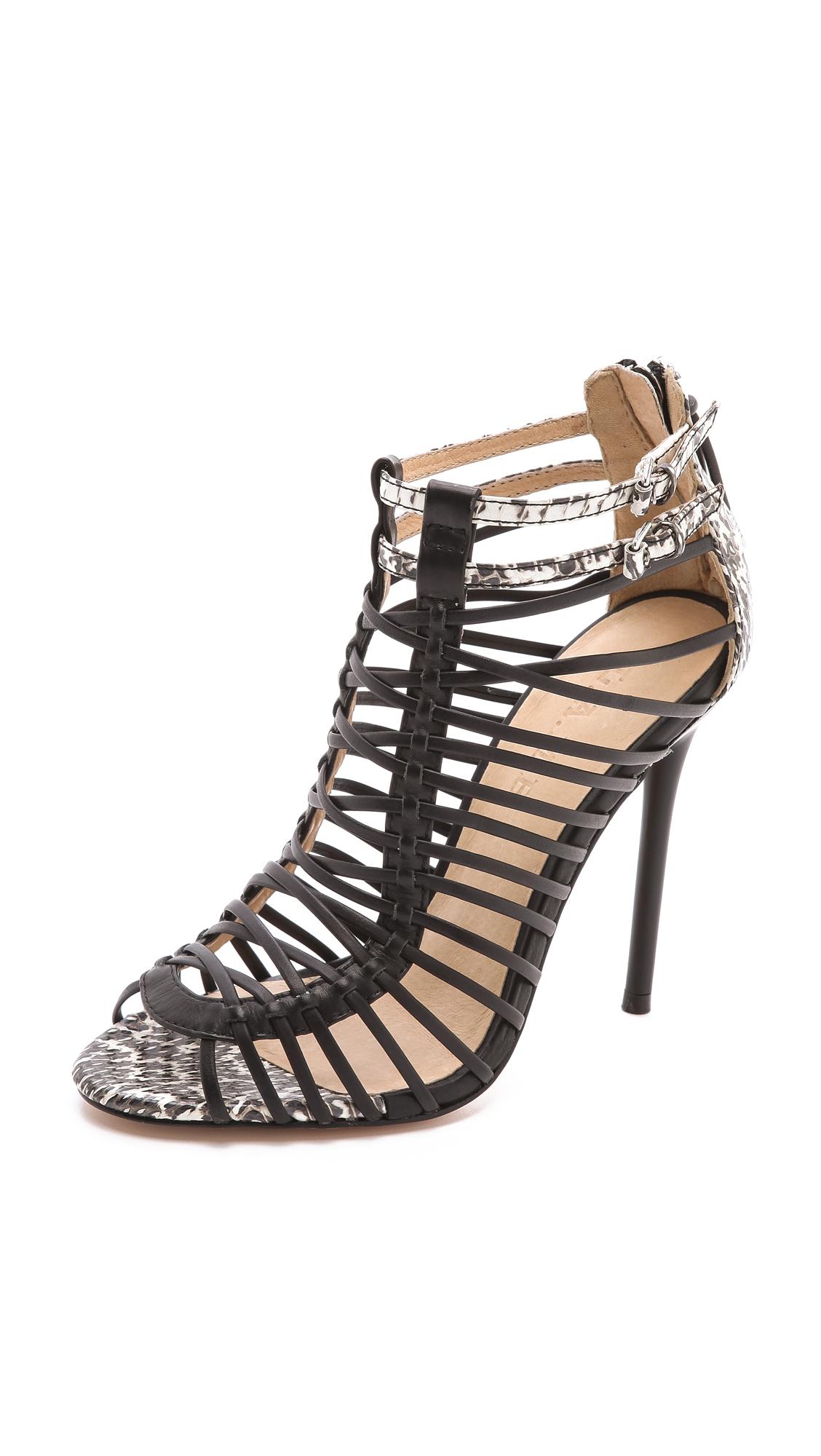 l a m b payton strappy high heel sandals in black lyst