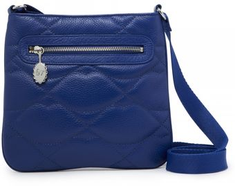 Lulu Guinness Cobalt Quilted Lips Small Leather Jamie - Lyst