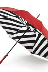 Lulu Guinness Diagonal Stripe Bloomsbury Umbrella - Lyst