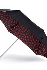 Lulu Guinness Red Lips Superslim Umbrella - Lyst
