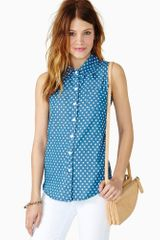 Nasty Gal Patriot Denim Top - Lyst