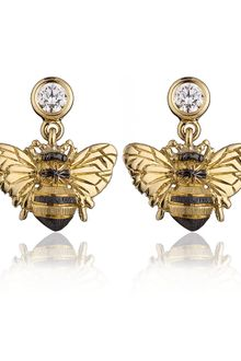 Theo Fennell Bee Drop Earrings - Lyst