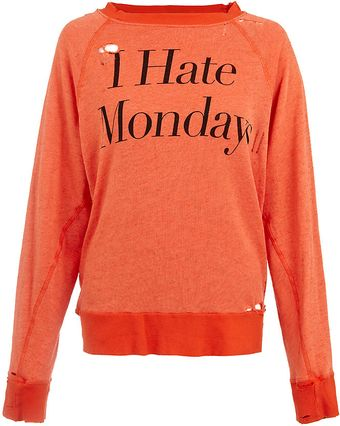 Wildfox I Hate Mondays Sweater - Lyst
