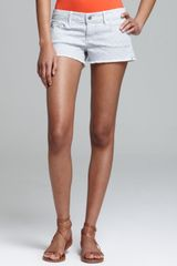 Ag Adriano Goldschmied Shorts Daisy Low Rise in Basket Weave Grey - Lyst