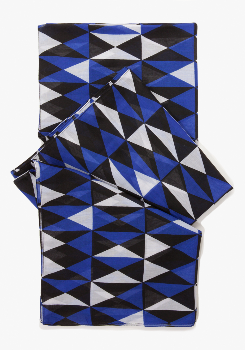 Bebe Diamond Print Scarf in Blue | Lyst