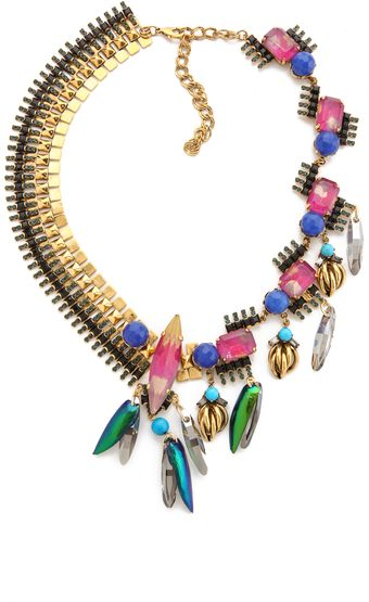 Erickson Beamon Aquarella Do Brasil Asymmetrical Necklace - Lyst