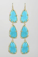 Kendra Scott Lillian Drop Earrings Turquoise - Lyst