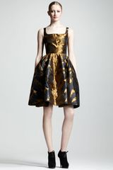Lanvin Tigerjacquard Fullskirt Dress - Lyst
