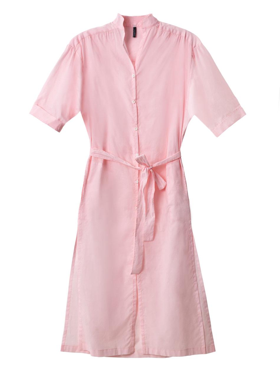 lisa marie fernandez cotton shirt dress in pink lyst