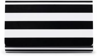 Lulu Guinness Black and White Natalia Perspex Clutch - Lyst