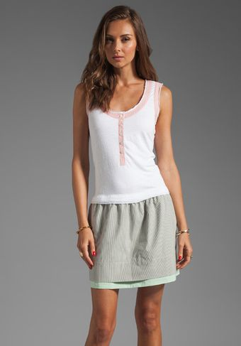 Marc By Marc Jacobs Jasper Mixed Knit Dress in Wicken White - Lyst