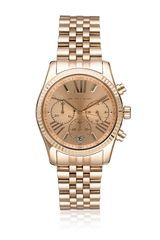 Michael Kors Rose Goldtone Bracelet Watch - Lyst