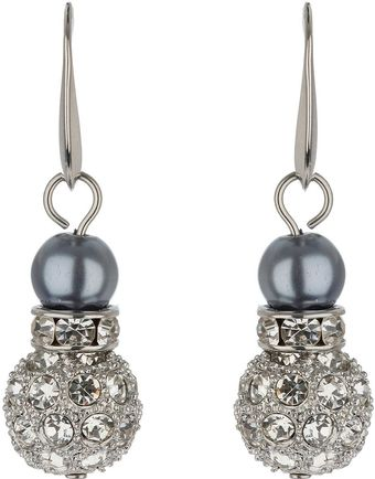 Mikey Large Crystal Ball Earrings - Lyst