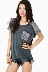 Nasty Gal Glitch Sequin Tee - Lyst