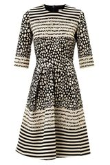 Preen Prim Dalmatianspot Jacquard Dress - Lyst