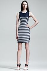Rag & Bone Giselle Mesh Inset Striped Dress - Lyst