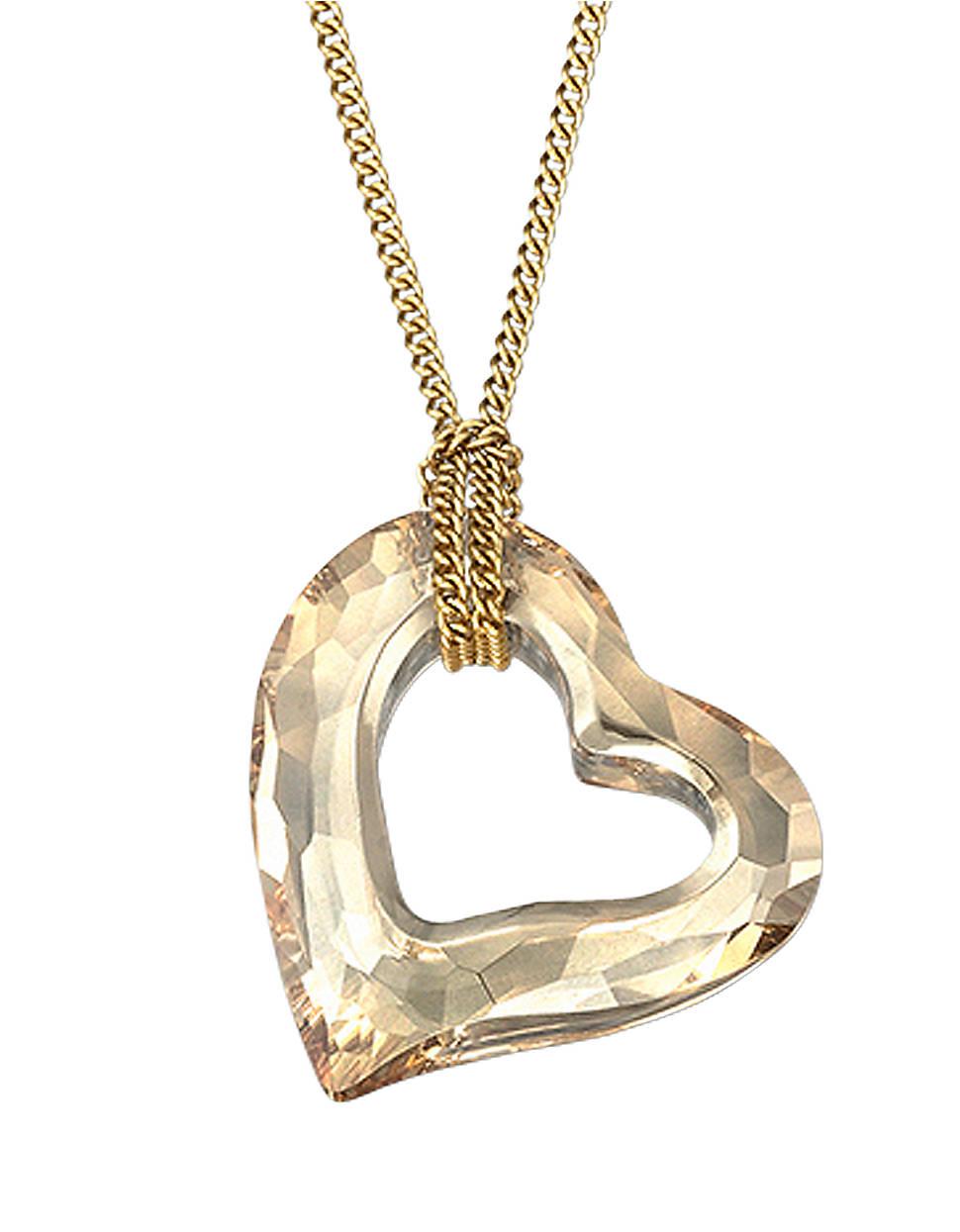 swarovski mini heart crystal pendant necklace in gold no. Black Bedroom Furniture Sets. Home Design Ideas