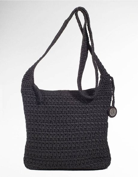 The Sak Black Crochet Handbag : The Sak Casual Classics Crochet Crossbody Bag in Black Lyst