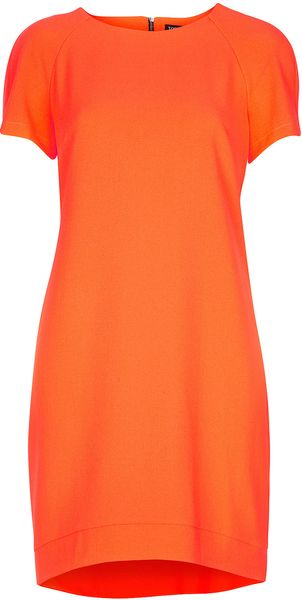 Topshop Crepe Tee Shift Dress - Lyst