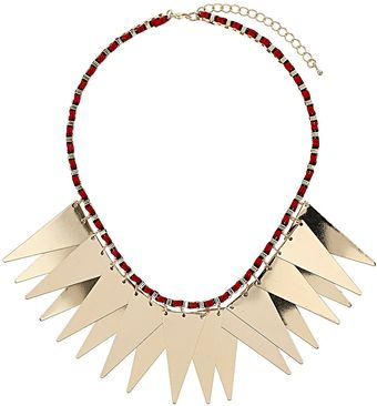 Topshop Triangle Thread Necklace - Lyst