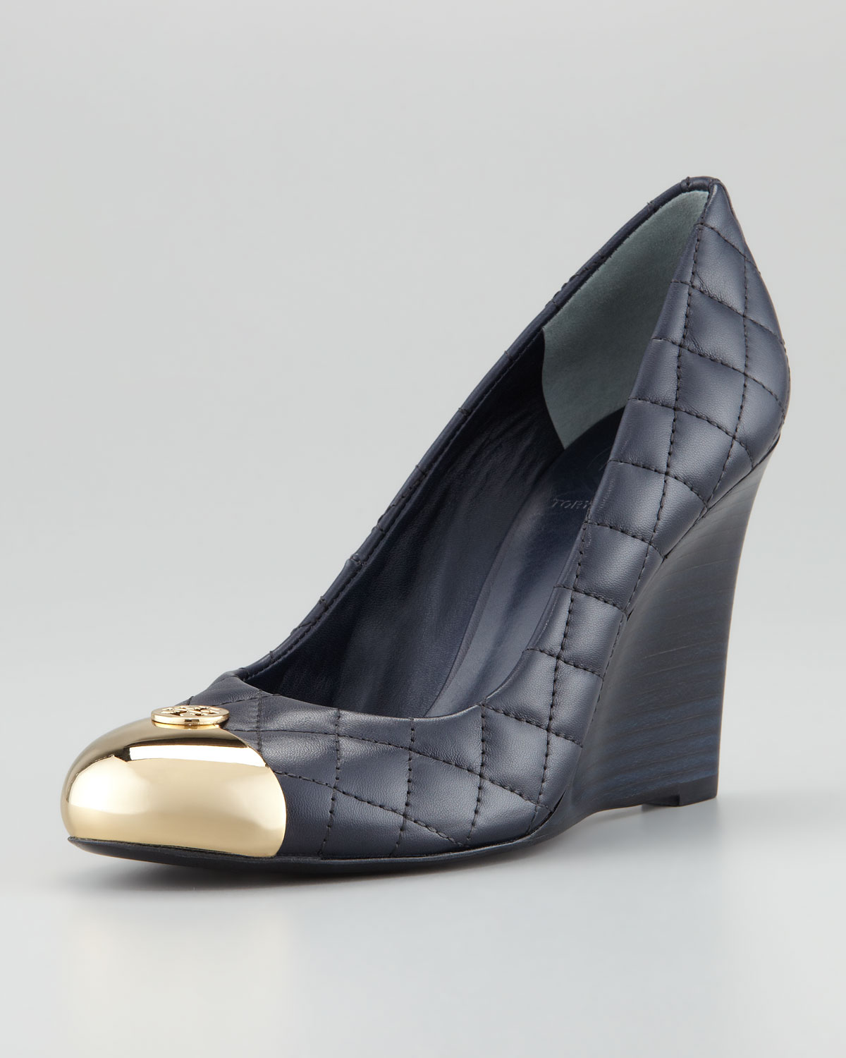 c19681516d1f Lyst - Tory Burch Kaitlin Quilted Leather Wedge Heel in Black