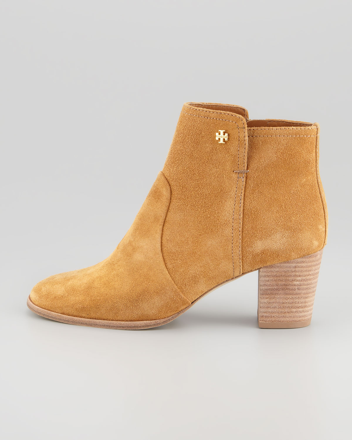 f190927af11 Lyst - Tory Burch Sabe Suede Bootie in Natural
