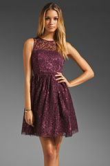 Alice + Olivia Alice Olivia Ophelia Sleeveless Lace Top Dress in Purple - Lyst