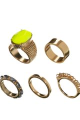 ASOS Collection Stone Ring Pack - Lyst