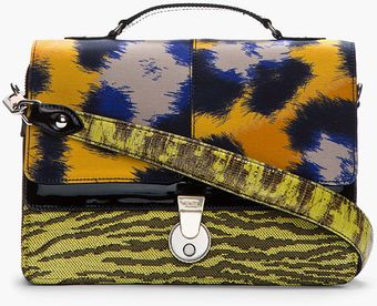 Kenzo Orange Animal Pattern Shoulder Bag - Lyst