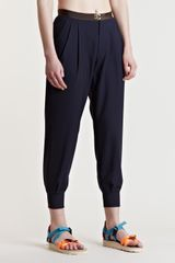 Kolor Womens Zip Cuff Pants - Lyst