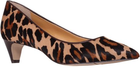 Nine West Fanesa5 Kitten Heels in Animal ( leopard) - Lyst