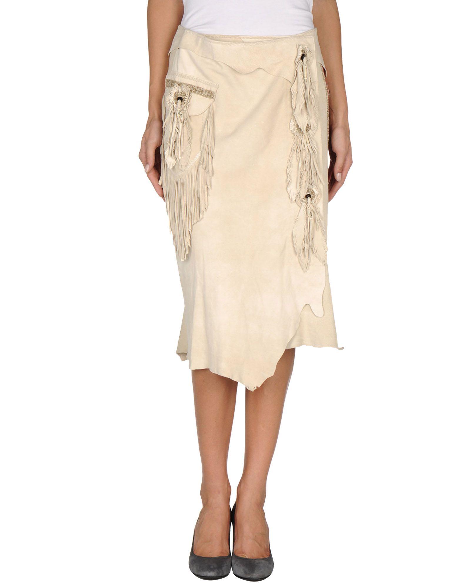 spirit leather skirts in beige save 47 lyst