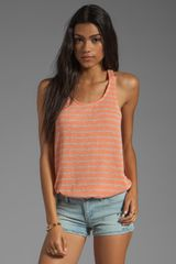 Splendid Disco Stripe Loose Knit Tank in Peach - Lyst